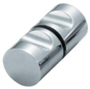 Encaixe do banheiro do botão de vidro do chuveiro da porta (FS-610)