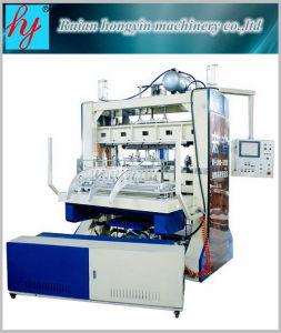 Máquina de perfuração em linha plástica para dar forma à máquina