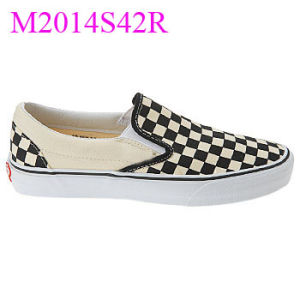 Checkered Casual Slip de Blt Men em Skate Style Shoes