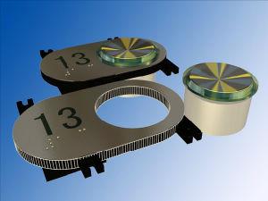 Höhenruder Button mit Blindenschrift und Ear (SN-PB119)