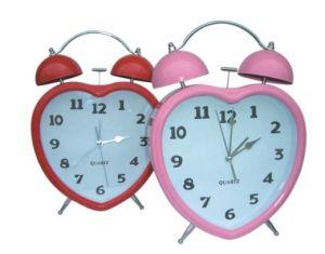 Horloge d'alarme jumelle de Bell de coeur (KV3001)