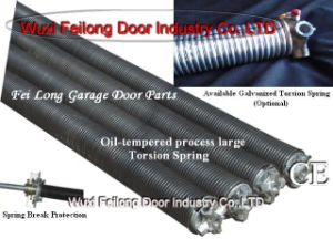 Peças da porta da garagem --- Mola de torsão (tratamento Oil-Tempered & galvanizado)