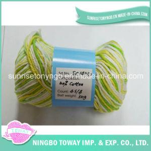 Linha Sewing por atacado do algodão do Crochet do laço do bordado do costume 9s/2 6s/3