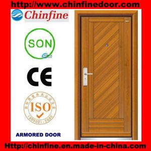 Portes blindées en acier et bois à bas prix (CF-M001)