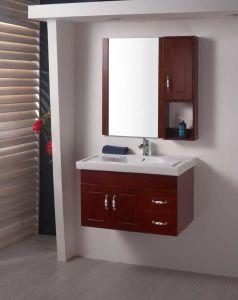 浴室の虚栄心のカシの浴室用キャビネットSanitaryware (W-133)