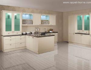 Blanco del gabinete de cocina (OP10-X073)