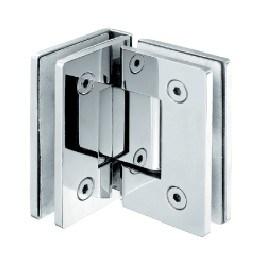 Vidro de 90 graus à dobradiça de porta de vidro do chuveiro da porta