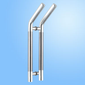 Punho de vidro da tração da porta do aço inoxidável (FS-1844)