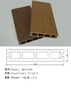 Ocox Popular Plastic Wood Composite Decking 145*30mm