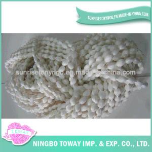 Tricotage à la main du filé de fantaisie de tissage -5 de coton de polyester d'échelle