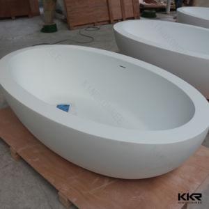 Petite salle de bains en pierre acrylique autoportante - Baignoire pour petite salle de bain ...