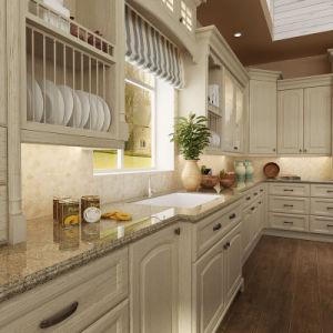 armadi da cucina classici di legno solido della quercia di oppein op15 s08
