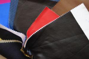 Couro de alta qualidade PU para vestuário com preço barato