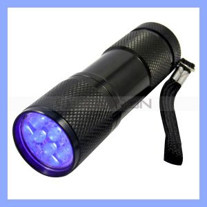 9 LED UVFlashlight Torch für Hygiene Checks und Detecting Pet Urine
