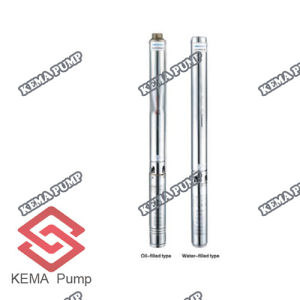 "4 "" Deep Wellのための完全なStainess Steel Submersible Borehole Pumps"