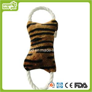 Hundeleopard-Korn-Farben-Plüsch-Seil-Knochen-Spielzeug-Haustier-Spielzeug
