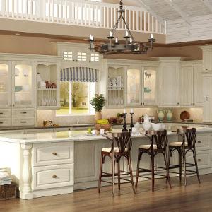 armadi da cucina classici di legno solido della quercia di oppein ... - Armadi Da Cucina