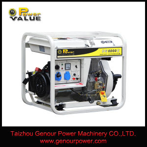 Genour Power 6kVA Open Engine Type Diesel Generator Air Cooled Key Start