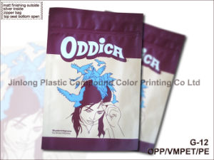 비닐 봉투를 포장하는 의복