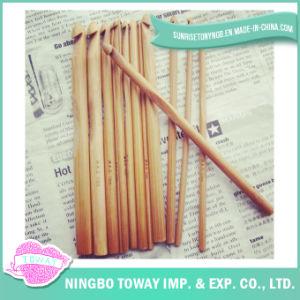 Fabricação chinesa que tricota manualmente o gancho de Crochet de bambu da madeira de agulhas