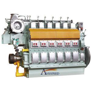 Дизель Двигателя Avespeed Ga6300 220кВт-1618кВт Надежный Идущий Морской