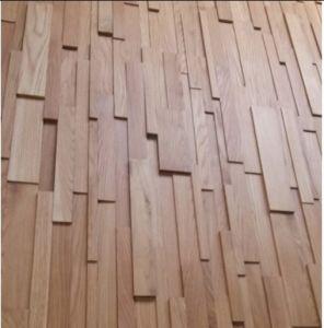 Plancher en bois de panneau mural de bois dur de parquet for Parquet mural bois