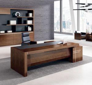 fsc certified mdf escritorio moderno de gama alta escritorio ejecutivo mesa de oficina