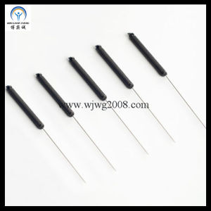 Aiguilles d'acupuncture avec poignée plastique conductrice sans tube de guidage (AN-13)