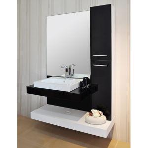 Negro acr lico junta bloquear ba o moderno gabinete for Modelos de muebles para banos pequenos