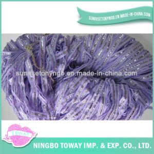 Fios extravagantes de tecelagem de confeção de malhas do algodão do poliéster do chapéu do inverno