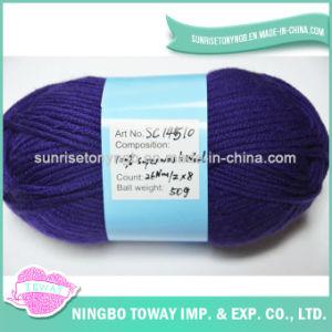Couleur Solide Texturisée en Gros Tricotant à la Main le Filé de Laines Pur