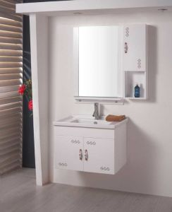 Sanitarywareの虚栄心PVC浴室用キャビネット(W-153)