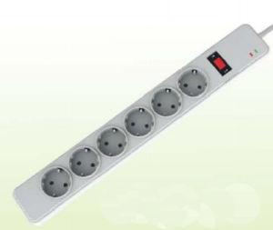 Электрическое Socket, с защитой от перенапряжения, Schuko Type, 6 Outlet