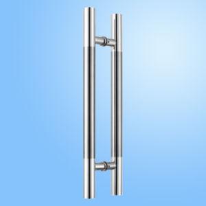 Punho de vidro da tração da porta do aço inoxidável da qualidade (FS-1868)