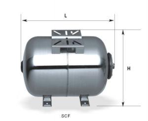 PumpsのためのScf19L-Scf100L Stainless Steel Horizontal Pressure Tanks