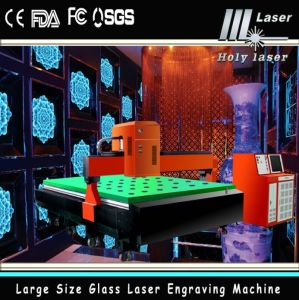 3D laser Glass Engraving Machine pour Large Size (HSGP-L)