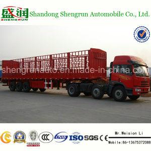3axle Aanhangwagen van de Vrachtwagen van de Lading van de staak de Semi Aanhangwagen Uitgevoerde