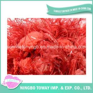 Filé de fantaisie de polyester de POM-POM rouge brillant acrylique de clavette