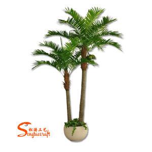 arbre artificiel de bonzaies de cocotier d 39 arbre de noix de coco de palmier en plastique la. Black Bedroom Furniture Sets. Home Design Ideas