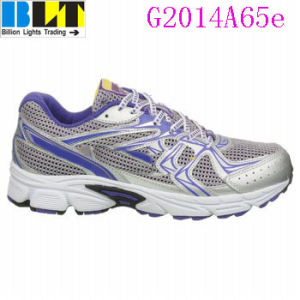 Sapatas Running atléticas do estilo de Velcro duplo da menina de Blt