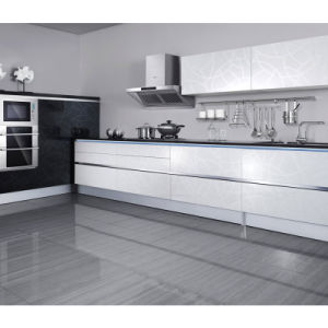 고전적인 White 및 Black L Shape PVC Kitchen 찬장 (OP10-X100) – 고전적인 ...