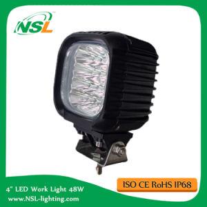 Lampe de travail carrée 48W LED 4 pouces pour chariot élévateur à main