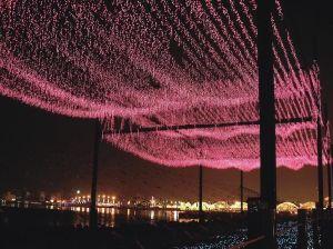 inicio iluminacin led de luz de la cascada por la decoracin del hogar