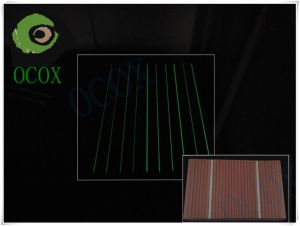 Assoalho do Decking da luz fluorescente WPC