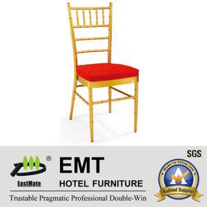 Métal empilant la chaise argentée de banquet de couleur (EMT-809-Silver)