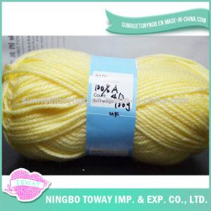 Fil à tricoter acrylique de tricotage à la main volumineux superbe du filé 100% (T002)