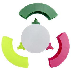 Resaltador Redondo de 3 Colores para Promocionales