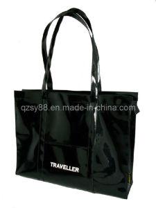 Compras de cuero brillantes Bag-01 del PVC de Fashional