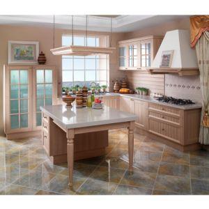 Idade L clássico armários do país de cozinha do PVC da forma (OP11-X108)