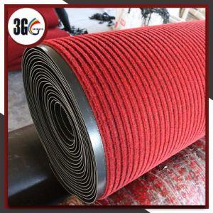 Pile de tissu de pp Terylene avec le couvre-tapis de support de PVC (3G-UA)